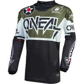 O'Neal Element Maillot de cyclisme Homme, warhawk-black/white/green